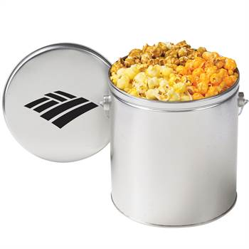 1-Gallon Gourmet 3-Way Popcorn Tin - Personalization Available