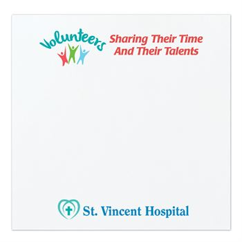 Bic Sticky Notes - Volunteers Sharing Their Time and Their Talents - Personalization Available