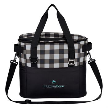 Buffalo Plaid Cooler Bag - Embroidered Personalization Available