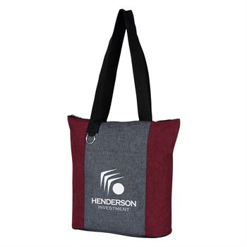 Heathered Fun Tote Bag - Personalization Available