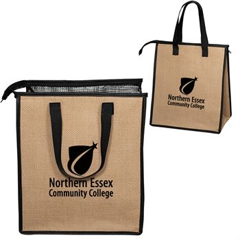 Jute Cooler Tote - Personalization Available