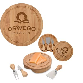 Bamboo Cheese Server 4-Piece Gift Set - Personalization Available
