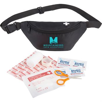 Hipster 18-Piece First Aid Fanny Pack - Personalization Available