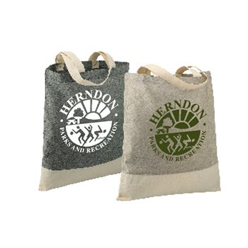 Split Recycled 5-Oz. Cotton Twill Convention Tote - Personalization Available