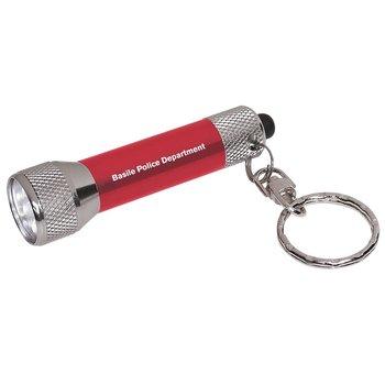 Aluminum LED Flashlight Key Chain - Personalization Available