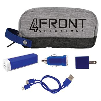 Bay Travel Charging Pouch 5-Piece Kit - Personalization Available