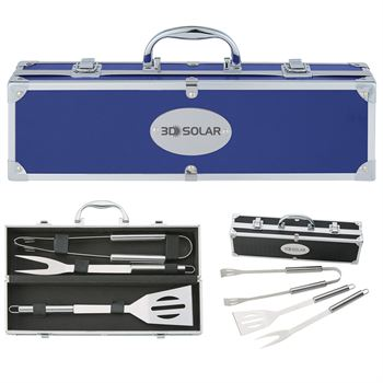 BBQ 3-Piece Gift Set In Aluminum Case - Personalization Available