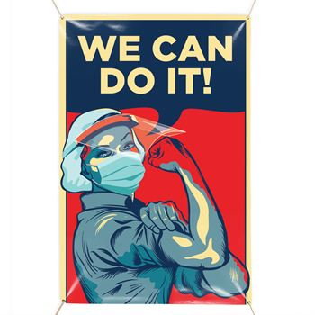 We Can Do It! 3' x 5' Vinyl Banner