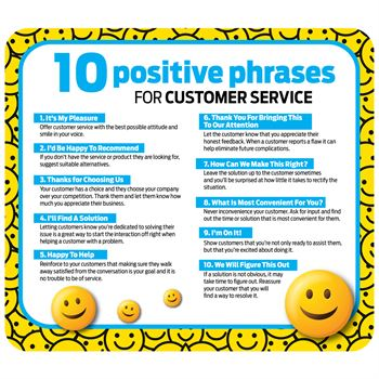 10 Positive Phrases For Customer Service Mouse Mat