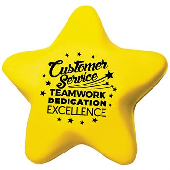 Customer Service: Teamwork, Dedication, Excellence Star-Shape Stress Reliever