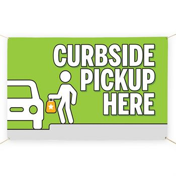 Curbside Pickup Here 5' x 3' Vinyl Banner