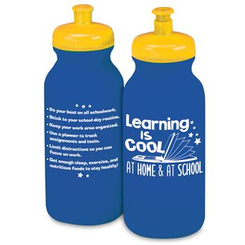 Learning Is Cool From Home & At School Water Bottle 20 Oz.