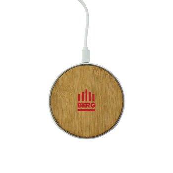 Bamboo Light-Up Wireless Charging Pad