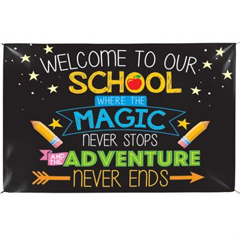Welcome to Our School 5' x 3' Vinyl Banner