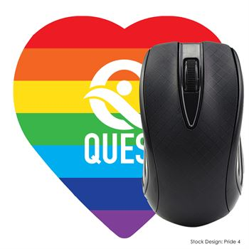 Pride Heart Shaped Mouse Pad