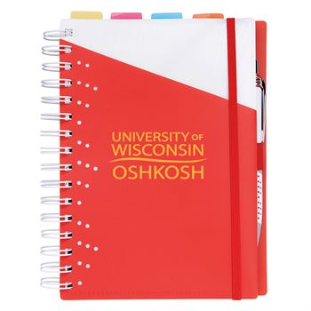4 Subject Spiral Notebook With Pen - Personalization Available