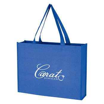 Monroe Non-Woven Glitter Tote Bag