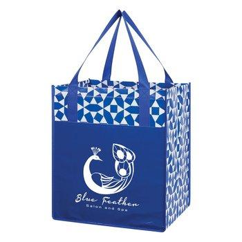 Geometric Non-Woven Shopping Tote Bag