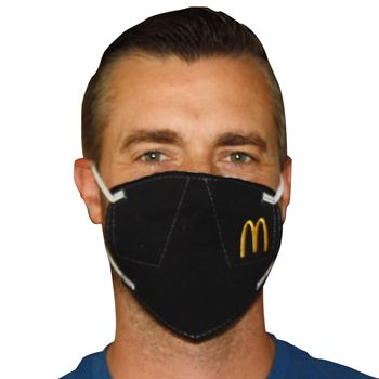 American Made 3-Ply Blended Face Mask with Embroidery Personalization Available