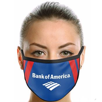 American Made 2-Ply Polyester Face Mask - Full-Color Personalization