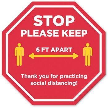 Stop Please Keep 6 Feet Apart 12