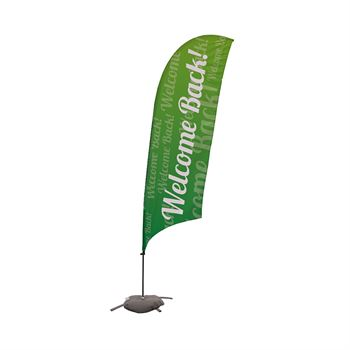 Welcome Back Single-Sided 13' Streamline Razor Sail Sign Kits