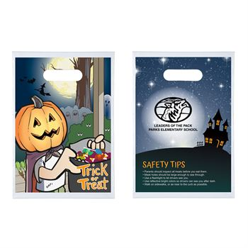 Trick Or Treat Pumpkin Halloween Goody Bag - Personalization Available