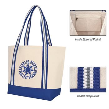 Bayshore Boat Tote Bag - Personalization Available