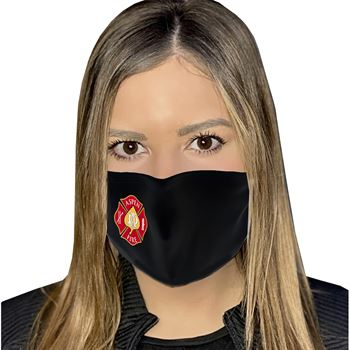 4-Ply 100% Cotton Face Mask With Adjustable Ear Loops & Nose Bridge- Washable & Reusable Full Color- Personalization Available