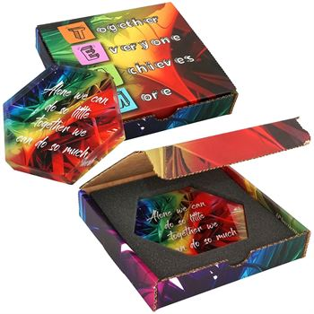 Hexagon Acrylic In Full Color Box -�Personalization Available