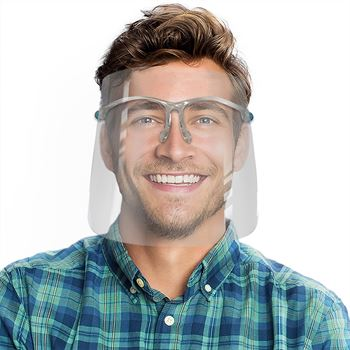 Replaceable Face Shield with Folding Frames - Blank
