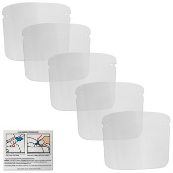 Replacement Face Shields - 5 Pack Standard Shields