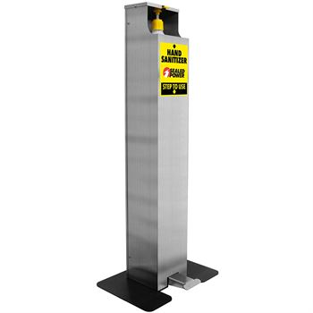 Foot Pedal Hand Sanitizer Dispenser Floor Stand - Full Color Personalization Available