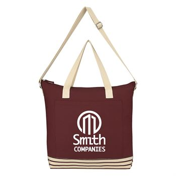 Bottom Line Cotton Tote Bag-Personalization Available