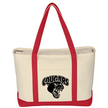 Large Heavy Cotton Canvas Boat Tote Bag-Personalization Available