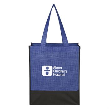 Crosshatch Mini Non Woven Tote Bag-Personalization Available