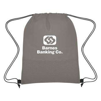 Wave Design Non-Woven Drawstring Bag-Personalization Available