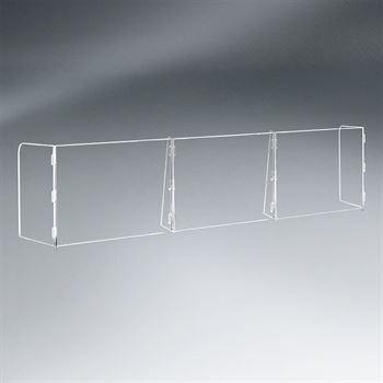 3 Panel Interlocking Counter Barrier Partition - 1/4