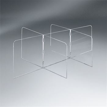 Small Interlock 7 Panel Tabletop Distancing Partition - 1/4