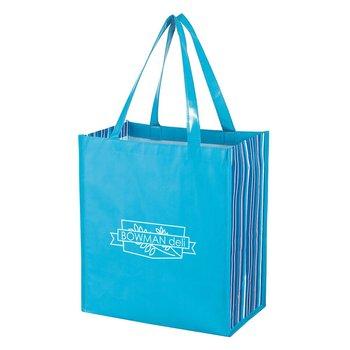 Shiny Laminated Non-Woven Tropic Shopper Tote Bag - Personalization Available