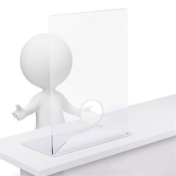Clear Acrylic Tabletop Distancing Barrier - 1/8