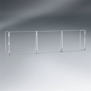 3 Panel Interlocking Counter Partition Safety Barrier�With Pass-Through - 1/4