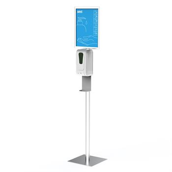 Touchless Free Standing Automatic Hand Sanitizer Dispenser With Panel Graphic