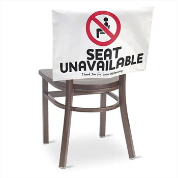 Seat Unavailable Seat Sign