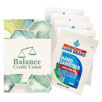 5-Pack Sanitizers With Custom Pack - Personalization Available
