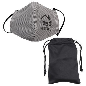 Refresh Microfiber Cooling Mask with Travel Pouch- Personalization Available