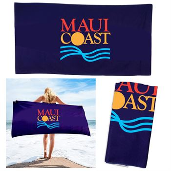 30 X 60 Full Color Plush Cotton Beach Towel-Personalization Available