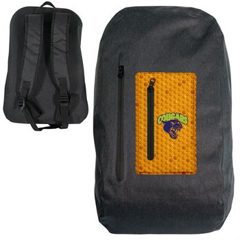 Waterproof Dual Pocket Backpack-Personalization Available