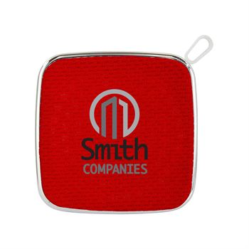 Colorful Fabric White Base Bluetooth Speaker-Personalization Available