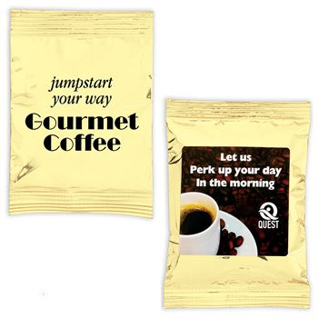 Gourmet Coffee Packets (Gold Bag)-Personalization Available